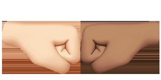 Emojis de puños chocando