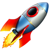 Emoji de cohete despegando
